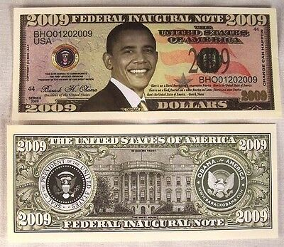 50 OBAMA BARACK 2009 DOLLAR BILLS  play money NEW