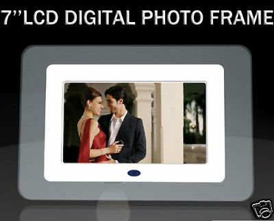 """New 7"""" LCD Digital Photo Frame With MP3 MP4 Player"""