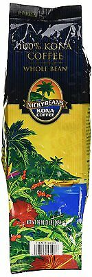 1lb. 100% Pure Kona Coffee Beans from Hawaii - Nicky Beans -  FREE SHIPPING