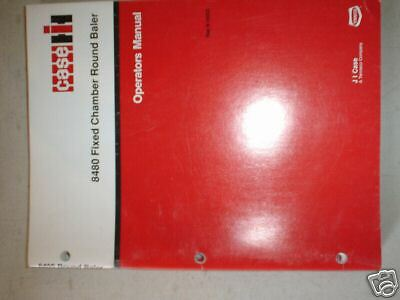 Case ih 8480 round baler operators manual $34. 86 | picclick.