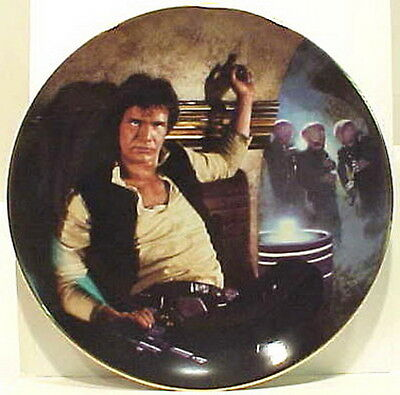 Vintage Star Wars Han Solo Ceramic Plate- FIRST SERIES!  Mint-Boxed