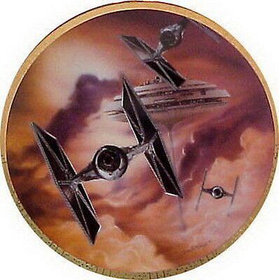 Vintage Tie Fighter Star Wars Vehicles Ceramic Collector Plate- MIB