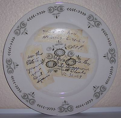 FRANCISCAN POTTERY HERITAGE EXPERIMENTAL DINNER PLATE!