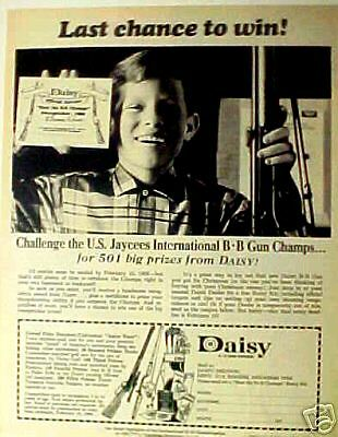 Daisy International Champs Kids Toy ~1968~ Gun Print AD