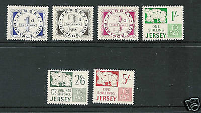 Great Britain Jersey 1969 Postage Dues Vf Mlh