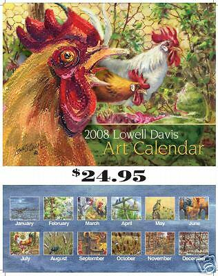 2008 Lowell Davis Art Calendar - Wild & Farm Birds NEW