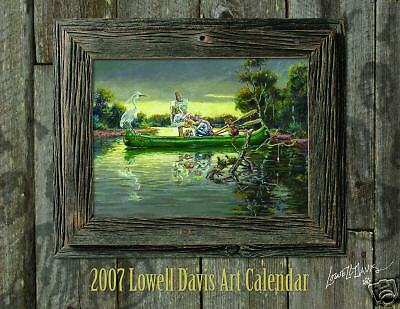 2007 Lowell Davis Art Calendar with 12 Art Prints