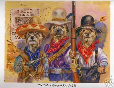 "Border Terriers as the ""Dalton Gang"" by Lowell Davis"