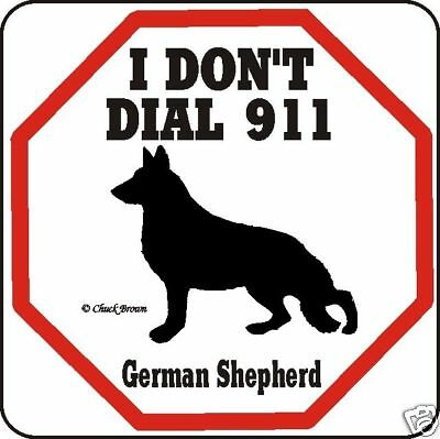 German Shepherd 911 Dog Sign - Many Pet Breeds Avail.