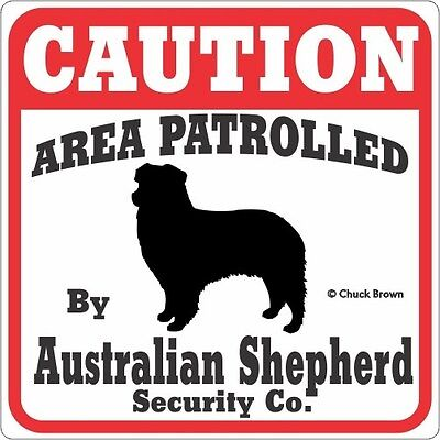 Australian Shepherd Caution Sign