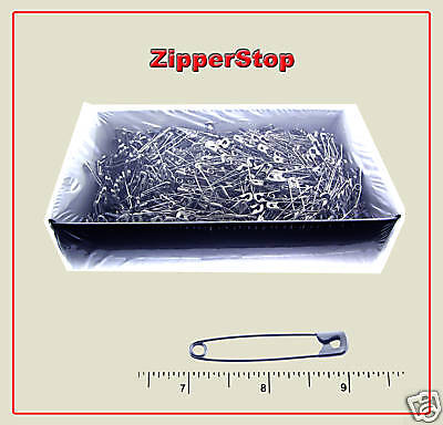 "2"" #3 Safety Pins ~ Silver ~ 1 Box (1,440 Pins)"