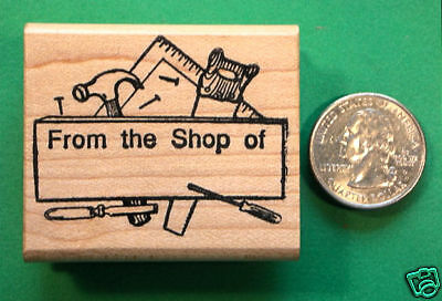 """From the Shop of"" Rubber Stamp, Wood Mounted"