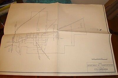 1971 Department of Highways Map of COLUMBIANA, OH