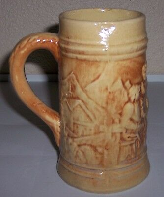 HULL POTTERY EARLY UTILITY ALPS BEER STEIN!