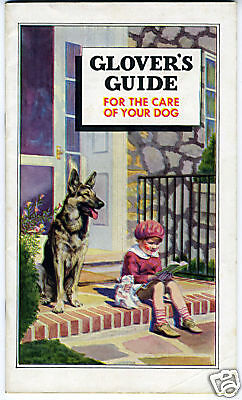 1934 Booklet Glovers Guide to Dog Care German Shepherd