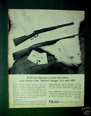 1964 Daisy BB Pump Gun Western Cowboy Air Rifle White Bear Toy AD