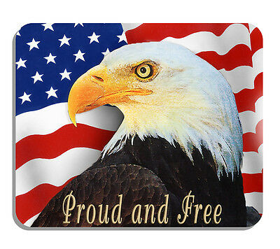 Eagle USA Flag Mouse Pad United States America Patriotic