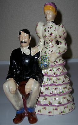 BRAYTON LAGUNA POTTERY GAY 90'S BRIDE & GROOM FIGURINE!
