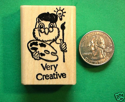 Very Creative, Teachers Rubber Stamp, wood mounted