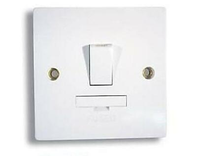 Switched Fused Spur 13amp Connection Unit White Plastic