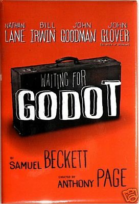 WAITING FOR GODOT BROADWAY SOUVENIR MAGNET- NATHAN LANE