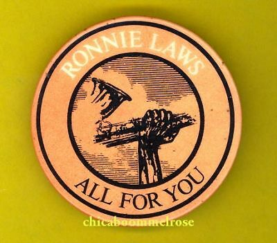 Ronnie Laws jazz 1978 uk badge button pinback h