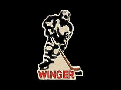 Hockey Winger Lapel Pin HIGH GLOSS SILVERTONE