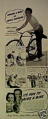 1940 Jackie Cooper~Cycle Trades of America Bicycle Ad