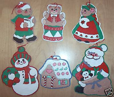 Handpainted Wooden Ornaments Set of 6