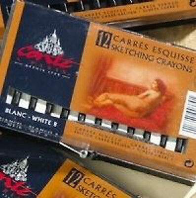 Conte Carres Sketching Crayons - 12 White HB