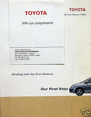 1998 Toyota Annual Report