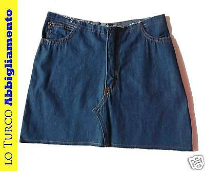 Mini Gonna Skirt Jeans Con Tasche Made In Italy