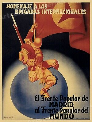 """International Brigades"" Spanish Civil War Poster 24x34"