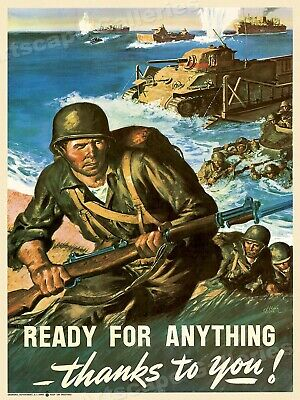 Ready for Anything!  World War II Historic Poster 17x24