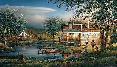 Terry Redlin Print  A/P Summertime Kids Art Print