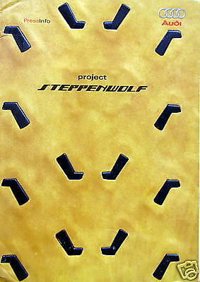 "2001 Audi ""Project Steppenwolf"" concept press kit"