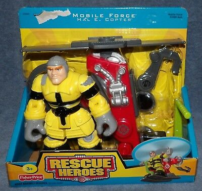 Rescue Heroes 2005 Mobile Force Hal E. Copter Figure Set