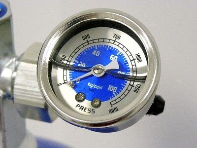 Nitrous Pressure Gauge Kit 4An For Express Bottle Blue