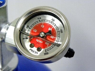 Nitrous Pressure Gauge Kit 4An Line For Zex Bottle Red