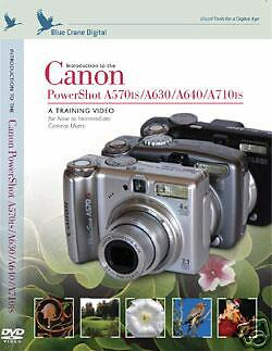 Canon Powershot A570is/A630/A640/A710is Training DVD
