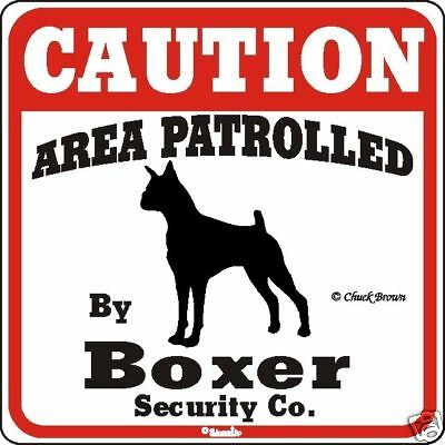 Boxer Caution Dog Sign