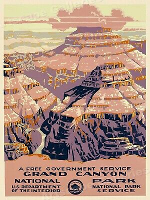 1938 Grand Canyon National Park - Vintage Style WPA Travel Poster - 18x24