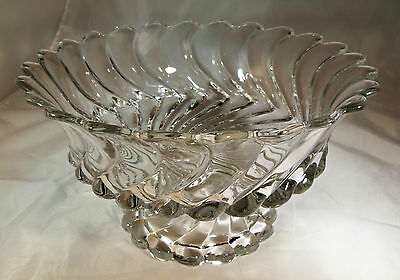 """FOSTORIA COLONY CRYSTAL 10-1/2"""" DIAMETER LOW FOOTED BOWL or COMPOTE!"""