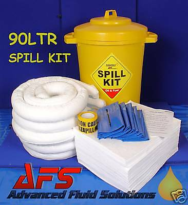 90 Ltr OIL & FUEL ONLY SPILL KIT - WORKSHOP SAFTEY TOOL