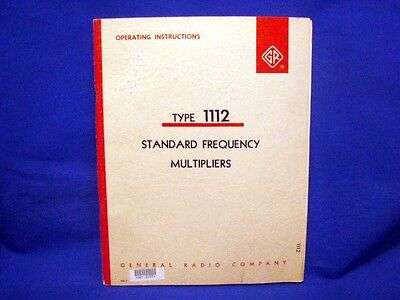 General Radio GENRAD Type 112 Operating Manual
