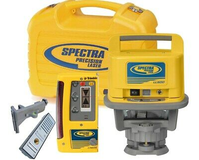 Spectra LL500 Rotary Laser Level 1,600-foot range with CR600 Receiver