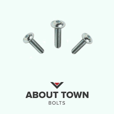 M3 M4 M5 M6 M8 A2 STAINLESS FLANGED BUTTON HEAD BOLTS NYLOC NUTS FORM A WASHERS