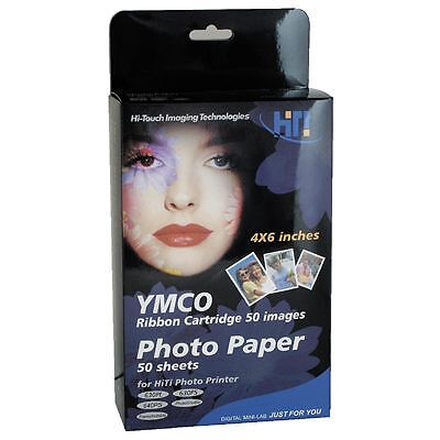 HiTi  PAPIER color 10x15  50 Blatt f. 630PS 630PL 640PS