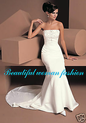 Ivory Bridal Wedding Dress Size 8 10 12 14 16 18 Gown