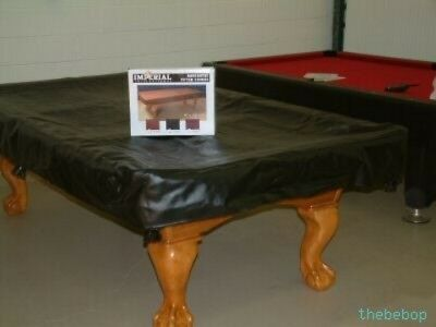 NEW 8' Imperial Black NAUGAHYDE Billiard Pool Table Cover FREE SHIPPING